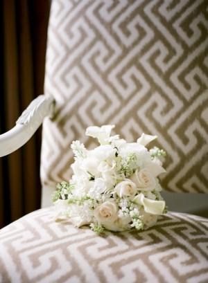 Peach Cream and White Bridal Bouquet