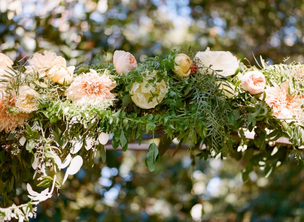 Peach and Yellow Floral Garland