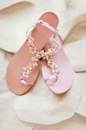 Pink Crystal Bridal Sandals