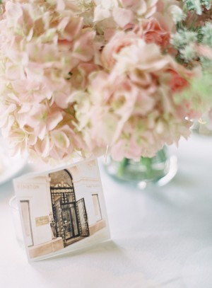 Pink Hydrangeas in Glass Vase 1