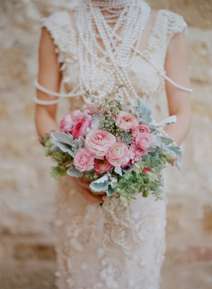 Pink Peony and Rose Bouquet 1