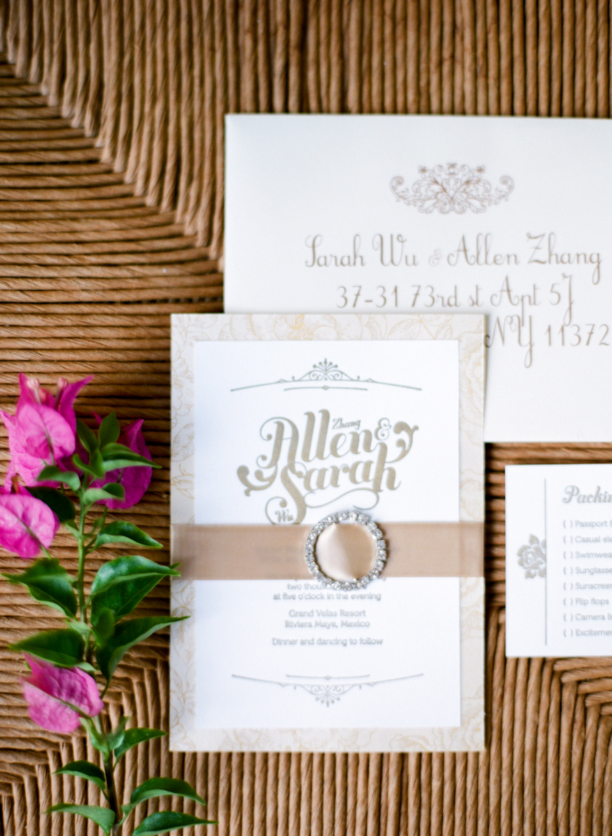 Pink and White Wedding Invitations - Elizabeth Anne Designs: The ...