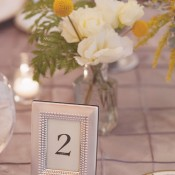 Reception Table Number in Silver Frame