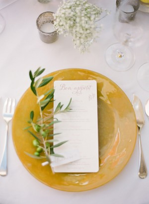 Olive Sprig Place Setting