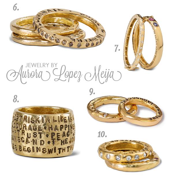 Rings by Aurora Lopez Meija Gray