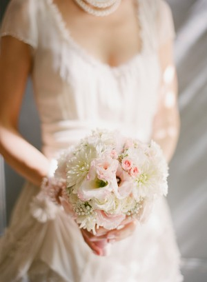 Romantic Pink and White Bouquet