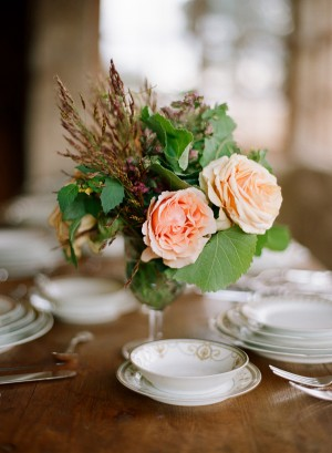 Rustic Arrangement With Roses
