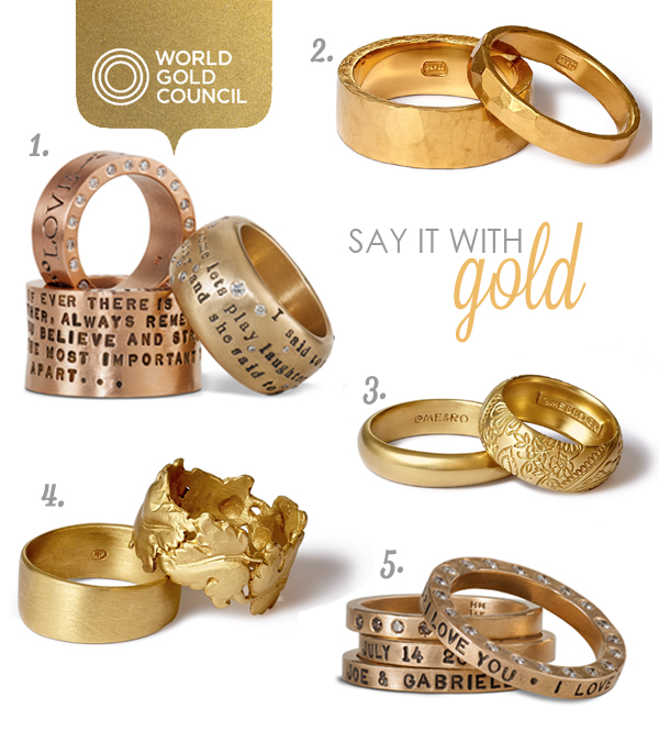 Personalized Gold Wedding Rings