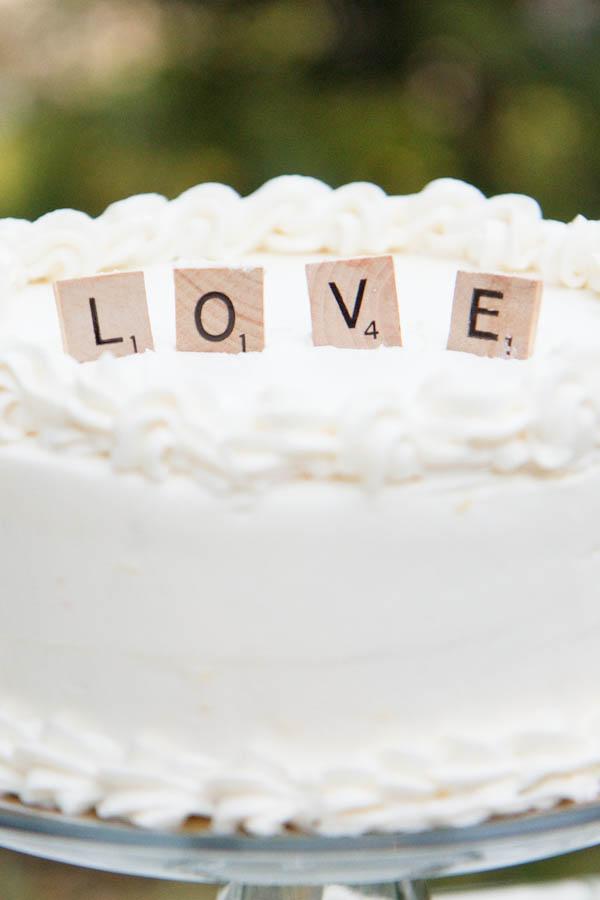 Scrabble Cake Topper