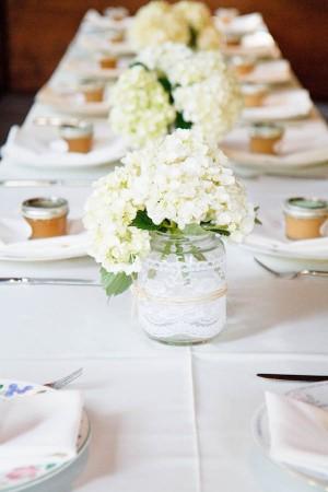Mason Jar Wedding Centerpiece