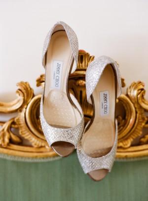 Silver Jimmy Choo Bridal Heels
