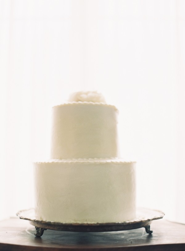 Simple Two Tiered White Wedding Cake - Elizabeth Anne Designs: The ...