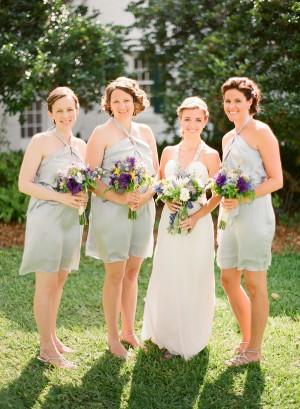 Soft Gray Bridesmaids Dresses
