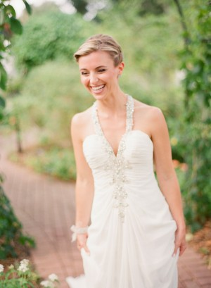 Strapless Wedding Gown With Jewel Encrusted Halter 1