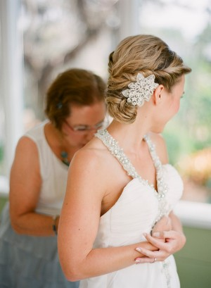Strapless Wedding Gown With Jewel Encrusted Halter