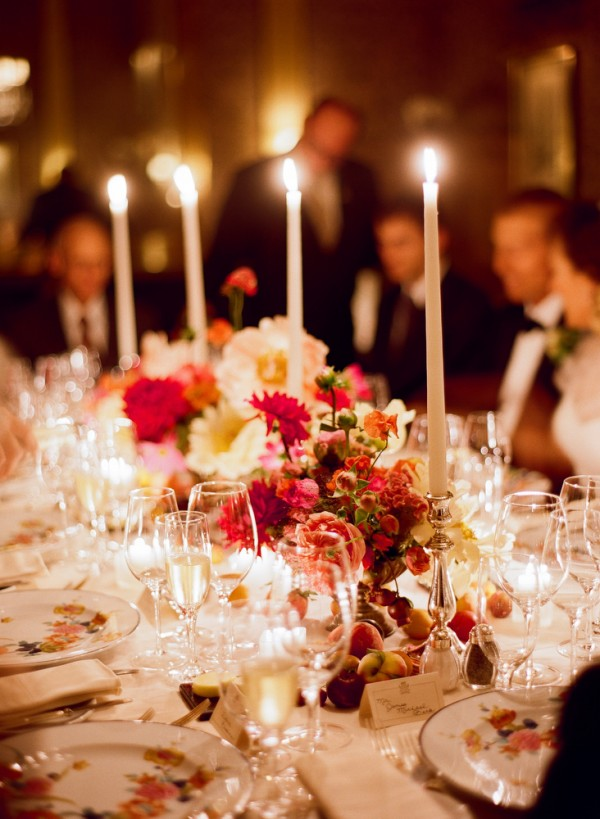Taper Candle Wedding Reception Decor