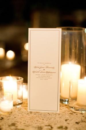 Vertical Wedding Ceremony Program