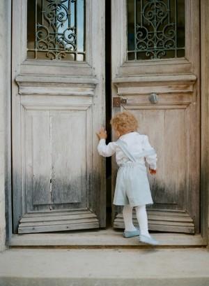 Vintage Blue Toddler Wedding Outfit