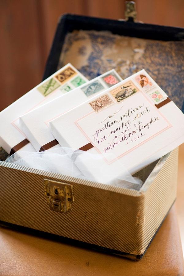 Wedding Invitations in Vintage Suitcase