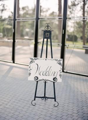 Wedding Sign on Easel