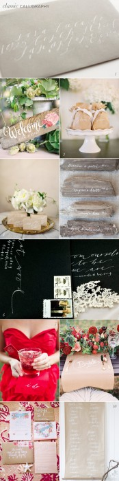 White Calligraphy Wedding Inspiration