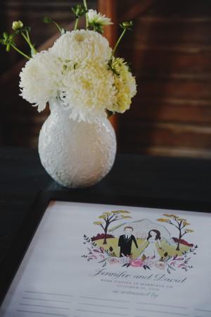 White Flowers in Textured White Vase