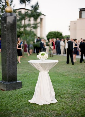 White Outdoor Reception Cocktail Table