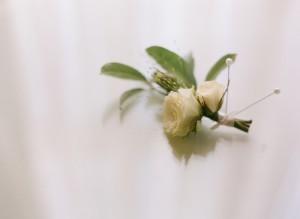 White Rose Boutonierre