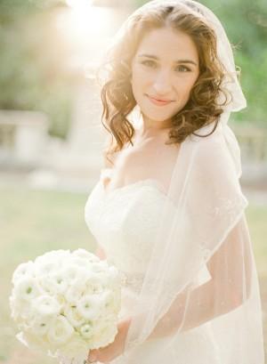 White Rose Bridal Bouquet 1