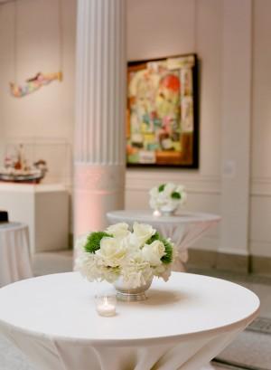 White Rose and Wheatgrass Arrangement