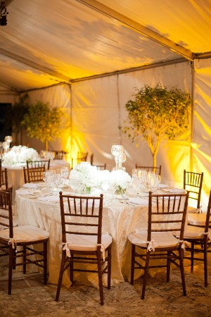 White Tables in Reception Tent