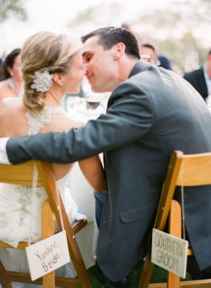 Yankee Bride and Southern Groom Chair Signs