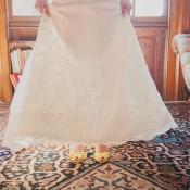 Yellow Peep Toe Bridal Shoes