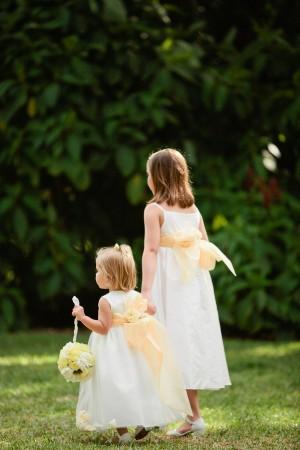 Yellow and White Flower Girl Dress 1