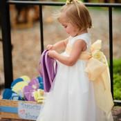 Yellow and White Flower Girl Dress