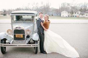 Antique Wedding Getaway Car