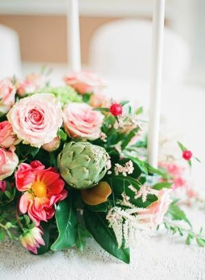Artichoke Wedding Centerpiece