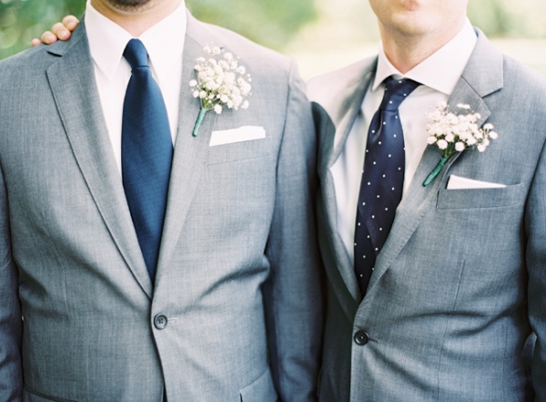 Baby's Breath Boutonnieres