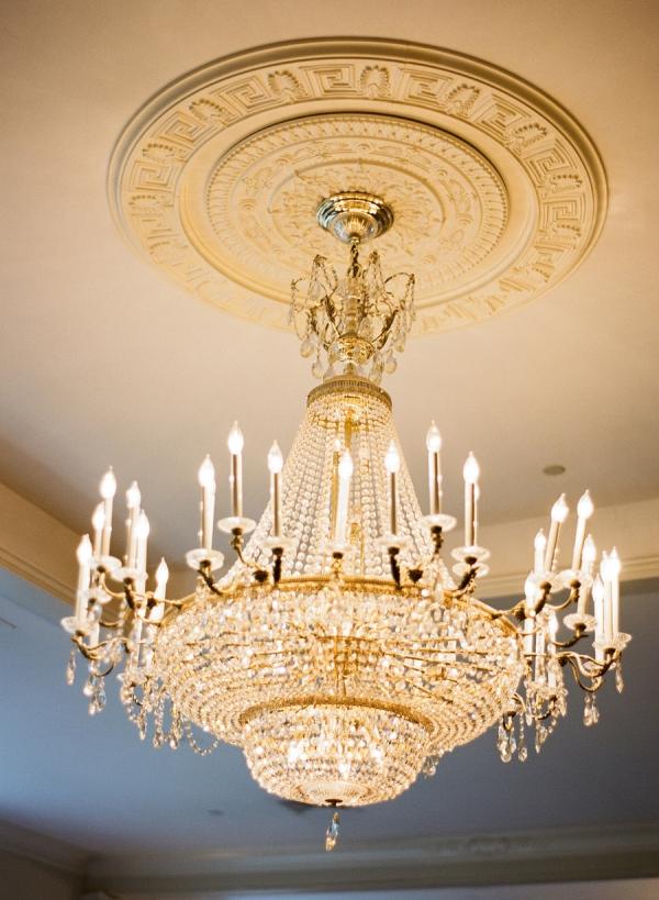 Beaded Art Deco Chandelier Reception Venue Ideas