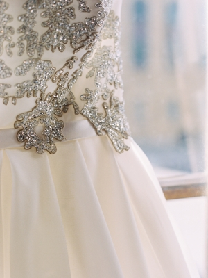 Beaded Bodice Wedding Gown Detail