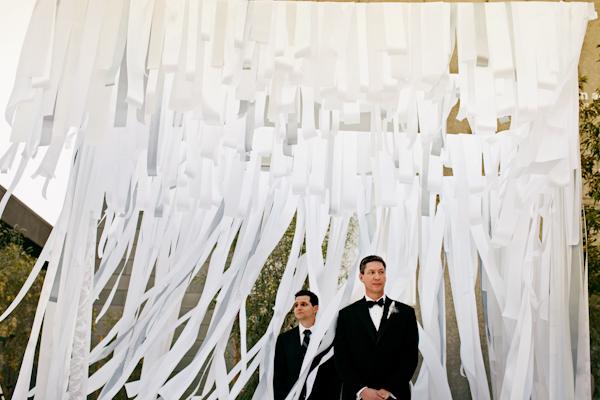 White Ribbon Ceremony Backdrop
