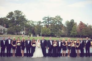Black And White Bridal Party Attire