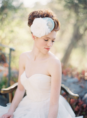 Blue Accent Bridal Hairpiece
