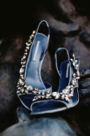 Blue Crystal Bridal Heels