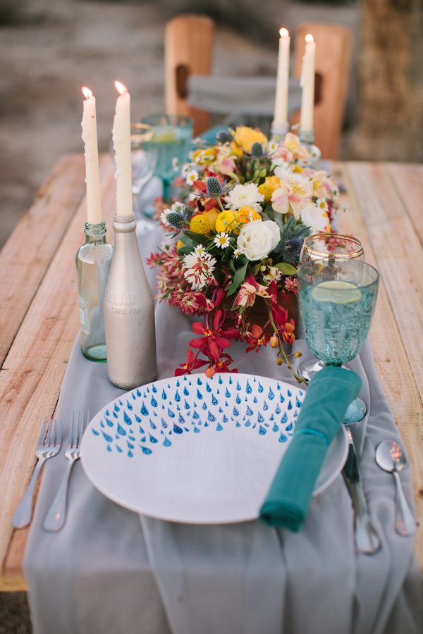 Turquoise Table Settings
