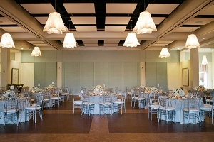Blue and Silver Wedding Reception Decor