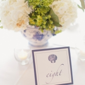 Seaside Wedding Table Numbers