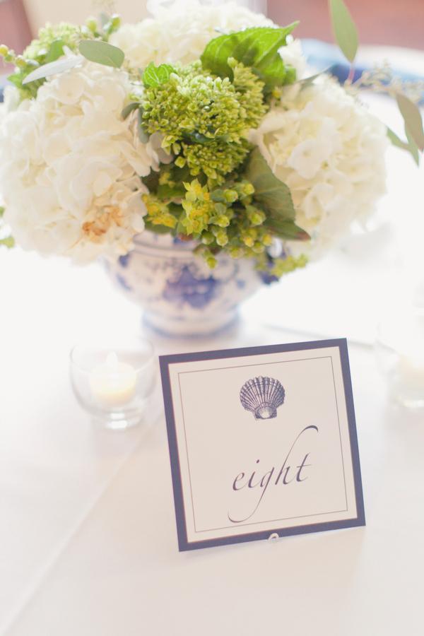 Seaside Wedding Table Numbers