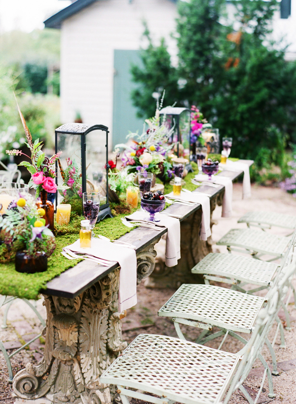 Colorful Wildflower Table Decor