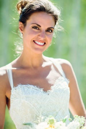 Bridal Gown With Sweetheart Neckline and Sheer Straps
